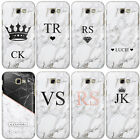 HAIRYWORM PERSONALISED MARBLE INITIALS PRINTED PLASTIC PHONE CASE FOR SAMSUNG S