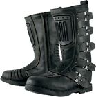 Icon Racing Womens Motorcycle Boots Elsinore Black 5-10