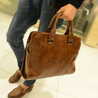 business bags for men leather - Men's Leather Shoulder Messenger Cross Body Bags Work Briefcase Business Handbag