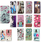 For LG Tribute Dynasty Premium Leather Wallet Case Pouch Flip Cover Accessory
