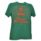 NCAA Adidas Miami Hurricanes Its All About The U Green Tshirt Tee Canes Mens