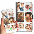 6 IMAGE PERSONALISED CUSTOM DELUXE COLLAGE ON A LEATHER PU MOBILE PHONE CASE
