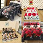 Comfortable Bedding Set Queen King Size Fitted Sheet Bed Cover Pillowcases V7A7