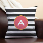 Black and White Stripes Personalized Pillow