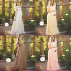 Maternity Lace Gown Long Maxi Dress Sundress for Pregnant Women Photography Prop