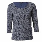 Marc O Polo Womens T Shirt Ladies Round Neck 3/4 Sleeve Patterned Casual Tee Top