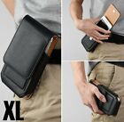 for iPhone 6+/7+/8+ PLUS - Black VERTICAL PU Leather Pouch Holder Belt Clip Case