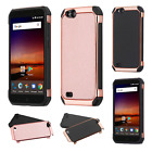 For ZTE Tempo X IMPACT HYBRID Plating Protector Case Skin Cover +Screen Guard