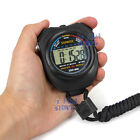 1-2 Handheld Digital LCD Chronograph Sports Counter Stopwatch Timer Stop Watch