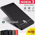 FUNDA TPU Gel para NOKIA 3 nokia3 shock tough armor carbon fiber rugged case