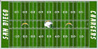 San Diego Chargers Electric Football Vinyl Field Cover Wall Art $89.99 USD