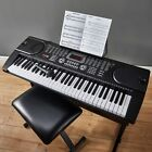 zennox electric keyboard digital music piano 61 keys instrument microphone new