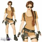 Ladies Lara Croft Tomb Raider Adventurer Game 1990s Fancy Dress Costume Outfit