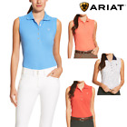 Ariat Ladies Prix Sleeveless Polo Shirt - FREE UK DELIVERY