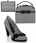 Ruby Shoo Susanna Bow Court Shoes UK 3-9 & Matching Tampa Bag & Tahoe Purse