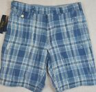 "Polo Ralph Lauren Classic Fit 9"" India Madras Plaid Linen Shorts 36 38 40 42 NWT"