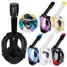 180° Panoramic Full DRY Face Snorkel Surface Diving Mask Goggles Breather S-XL