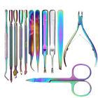 Rainbow Chameleon Cuticle Pusher Cutter Clipper Dead Skin Remover Nail Art Tools