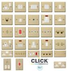 Click Deco Victorian Polished Brass Switches and Sockets with White Inserts