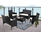 5-piece Rattan Garden Furniture Set Variety Of Colours Optional Cover Set