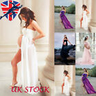 UK Maternity Dress Photo Shoot Maxi Gown Split Front Gown Sexy Photography Props