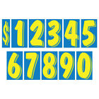 11 1/2 Inch Yellow & Blue Numbers Windshield Pricing Sticker Car Dealer YouPick