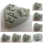 Petite Diamante Butterfly Heart Memorial Plaque, Graveside Tribute Remembrance