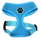Dog Puppy Mesh Harness, Soft Breathable - Paw Design - 10 Colors - XS, S, M, L