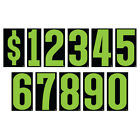 9 1/2 Inch Green & Black Numbers Windshield Pricing Stickers Car Dealer You Pick