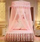 Lace Curtain Dome palace Girls Canopy Bed Princess Mosquito Net Netting Round image