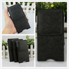Leather Horizontal Sleeve Belt Clip Pouch Holster Case For Mobile Cell Phone Lot