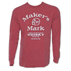 Maker's Mark Arched Logo Long Sleeve T Shirt Red