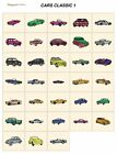 CARS CLASSIC 1. CD or USB machine embroidery designs files many formats pes etc