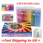 120/136/160 Colors Oil Art Pencils Drawing Sketching Set Artist Non-toxic Wooden