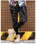 POP VISUAL KEI LOOSE GAUZE PATTERN MAX LONG MAN PANTS