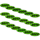 Oval Year Chartreuse Car Dealer Windshield Oval Year Model Sticker You Pick