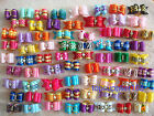NEW handmade Dog bows pet Grooming gift charm mix double loop Accessories #a31