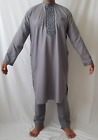 Men Kurta Shalwar Pakistani Indian Wear Dress Eid Casual Kameez Outfit Salwar