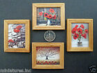 "ONE DOLLS HOUSE MINIATURE ""POPPY"" PICTURE Wooden Frame 4 Styles 2 Sizes Handmade"