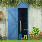 Wooden Garden Shed Tool Storage Outdoor Cabinet Unit 3 Shelves Asphalt Roof