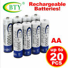 4 8 12 20 Pcs AA Rechargeable Battery 1.2V 3000mAh BTY Cell Ni-MH Light Lamp