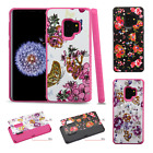For Samsung Galaxy S9 / S9 PLUS HYBRID IMPACT Dazzling Diamond Layered Case