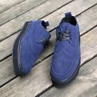 Mens Athletic Low Top Casual Lace Up Wing Tip Platform Creeper Skateboard Shoes