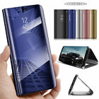For Huawei Mate 10 Pro P10 Lite P8lite Mirror Smart Flip Holder Stand Case Cover