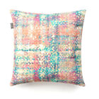 Designer Bolster and Scatter Cushion Pink Teal Coral Velvet with Feather Inner