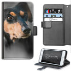 Dachshund Dog Phone Case, PU Leather Wallet Flip Case, Cover For Samsung, Apple