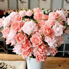 1Pc Artificial 5 Heads Rose Fake Flower Home Hotel Shop Cafe Decor Gift Hot Cool
