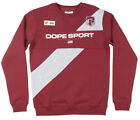 DOPE Sport Bougie Crew National Crewneck Sweatshirt Pullover Mens Burgundy