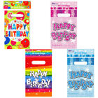 Packs Of 20 Happy Birthday Party Loot Favour Bags For Treats & Toys - 4 Designs