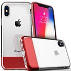 For iPhone X / XS Clear Case Cover Shockproof Protective Tempered Glass